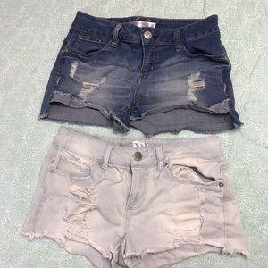 No Boundaries sz 7 stretchy jean shorts